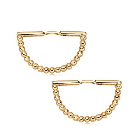 Stilla Arc Hoop Earrings, ${color}