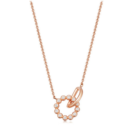 Stilla Arc Interlocking Pendant Necklace, ${color}
