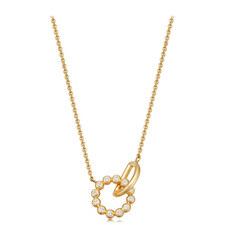 Stilla Arc Interlocking Pendant Necklace