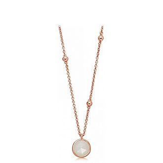 Beaded Moonstone Pendant Necklace