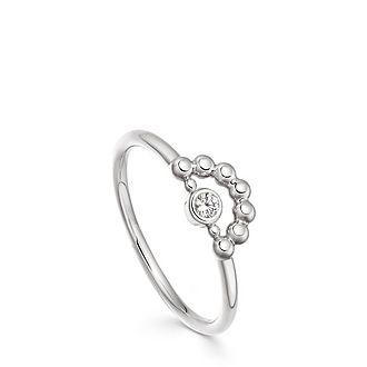 Stilla Arc Mini Beaded Ring