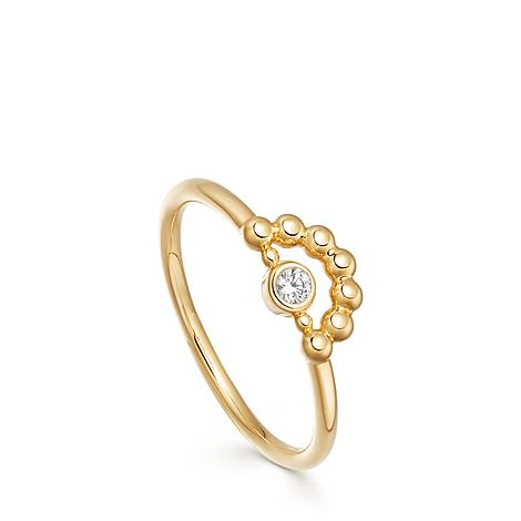 Stilla Arc Mini Beaded Ring, ${color}