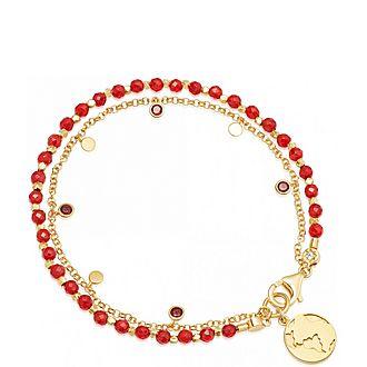 Red Agate Earth Droplet Bracelet