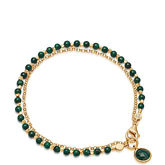 Malachite Bow Bracelet