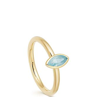 Paloma Petal Aqua Quartz Ring