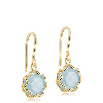 Paloma Aqua Quartz Drop Earrings