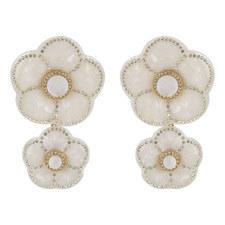 Flower Double Drop Earrings