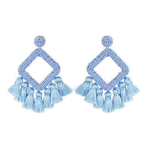 Laniyah Fringe Drop Earrings, ${color}