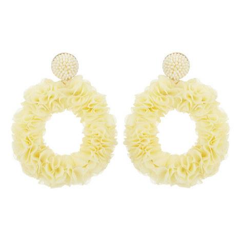 Floral Wreath Drop Earrings, ${color}