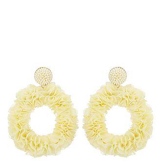 Floral Wreath Drop Earrings