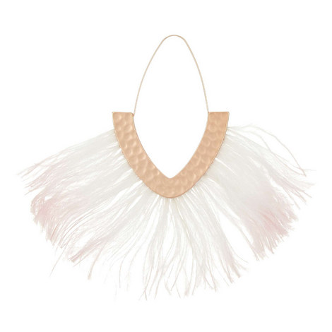 Fringed Feather Drop Earrings, ${color}