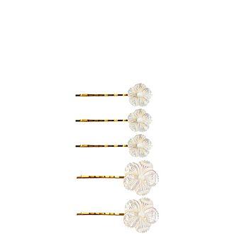 Set of Five Coralina Bobby Pins