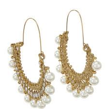 Amrita Pearl Hoop Earrings