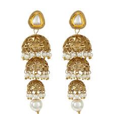 Dia Pearl & Gold Earrings