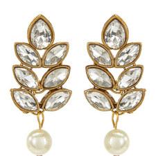 Pearl Drop Crystal Earrings