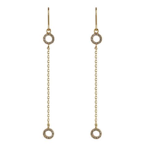 Bridge Chain Crystal Earrings, ${color}