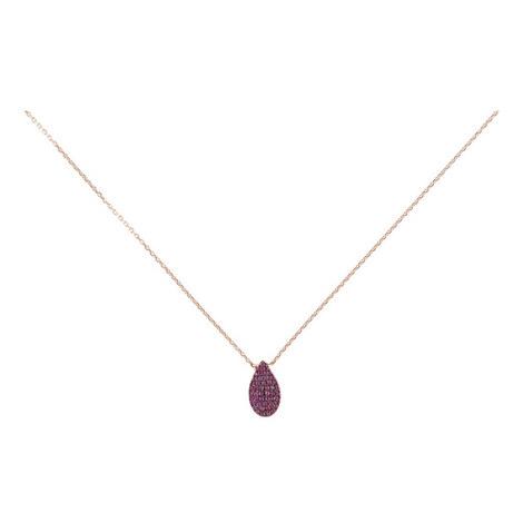 Tear Drop Pendant Necklace, ${color}