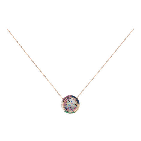 Circle Bead Pendant Necklace, ${color}