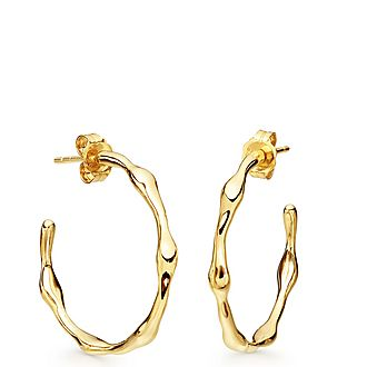 Molten Hoop Earrings