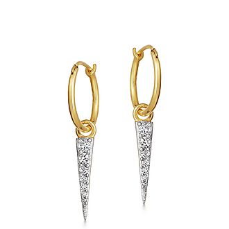 Mini Pavé Spike Charm Earrings