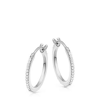 Pave Large Huggie Earrings