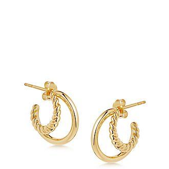 Mini Radial Hoop Earrings