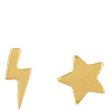 Lightning Star Stud Earrings