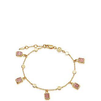 Rhosochrosite Lena Charm Bracelet