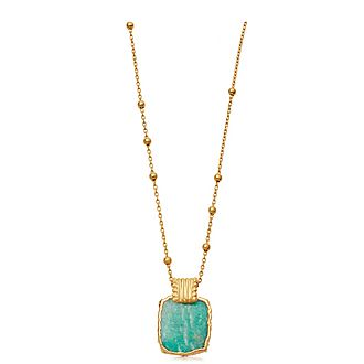 Amazonite Lena Charm Necklace