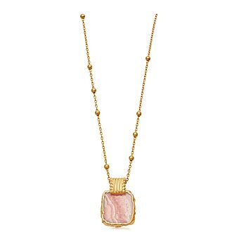 Rhodochrosite Lena Charm Necklace