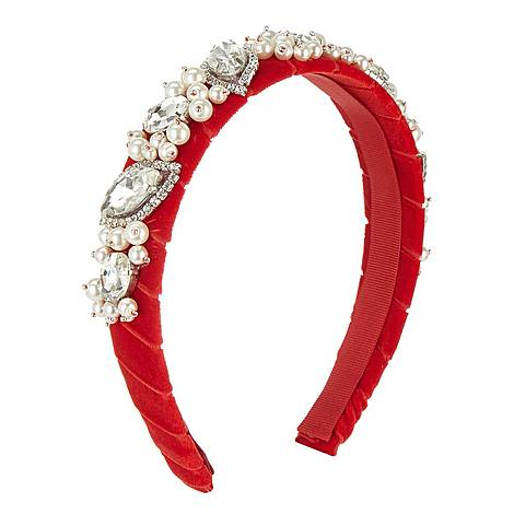 Pearl and Crystal Hairband, ${color}