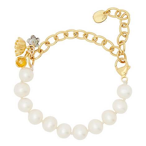 Pearl Flower Bracelet, ${color}