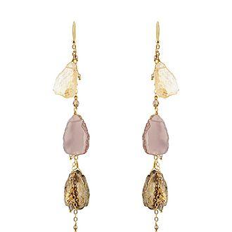 Pyrite Drop Earrings