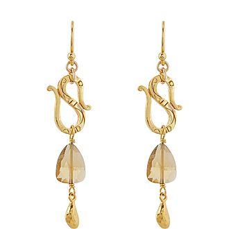 Quartz Drop Earrings