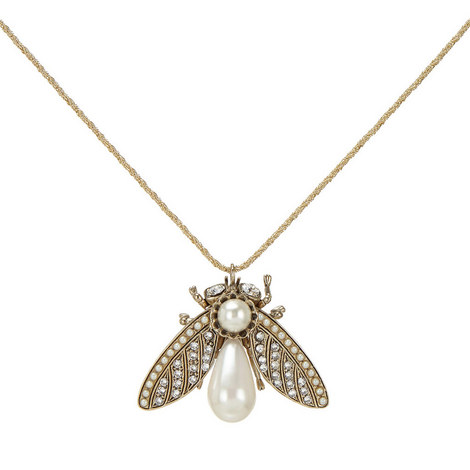 Bee Charm Necklace, ${color}