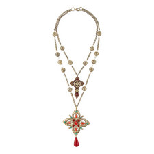 Double Layer Cross Necklace