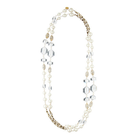 Crystal Pearl Necklace, ${color}