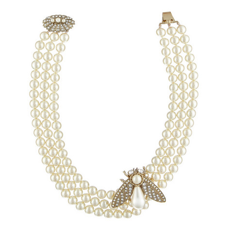 Triple Tiered Pearl Necklace, ${color}