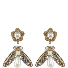 Pearl Bee Drop Earrings
