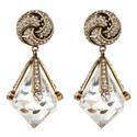 Diamond Drop Clip-On Earrings, ${color}