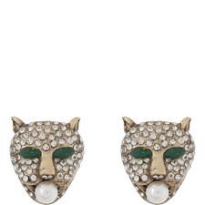 Jaguar Crystal Stud Earrings