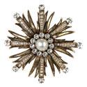 Crystal Flower Brooch, ${color}
