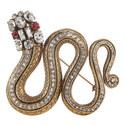 Crystal Snake Brooch, ${color}