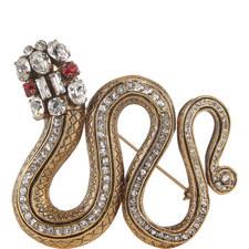 Crystal Snake Brooch