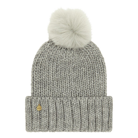 Faux Fur Pom Beanie, ${color}