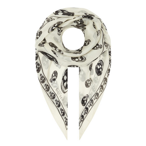 Silk Skull Scarf, ${color}