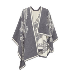 Paisley Wool Mix Cape