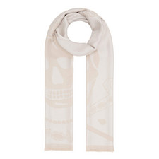 Crowned Skull Wool Scarf