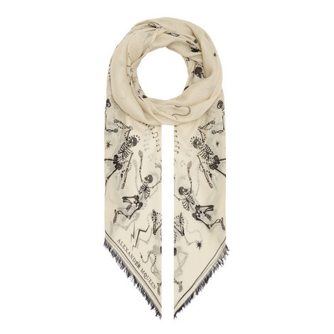 Funny Bones Silk Mix Scarf, ${color}
