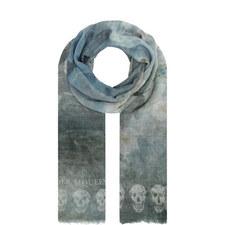 Waterlily Skull Print Scarf